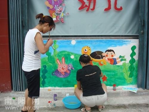 幼儿园壁画 南阳手绘墙 南阳木星彩绘案例