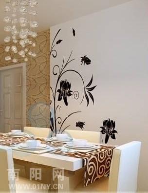 木星彩绘 南阳手绘墙 家装手绘案例 餐厅背景