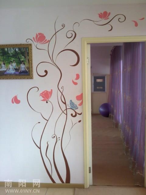 木板墙线装修图