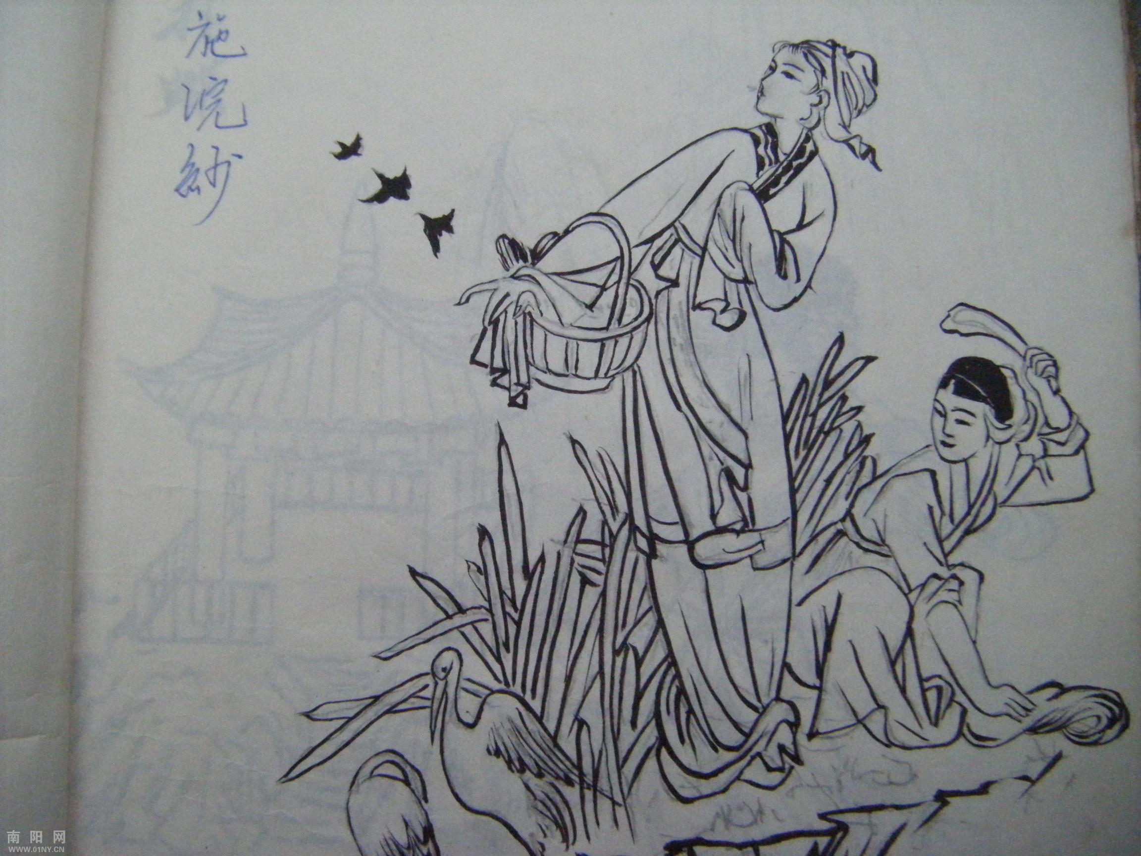 三川建筑钢笔手绘