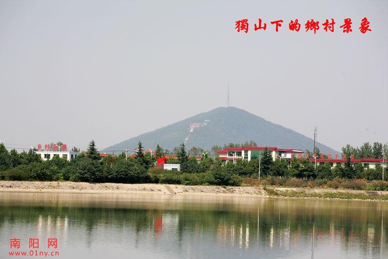 独山下的乡村景象 行摄 风光 南阳图片