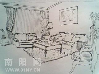 家具速写图片
