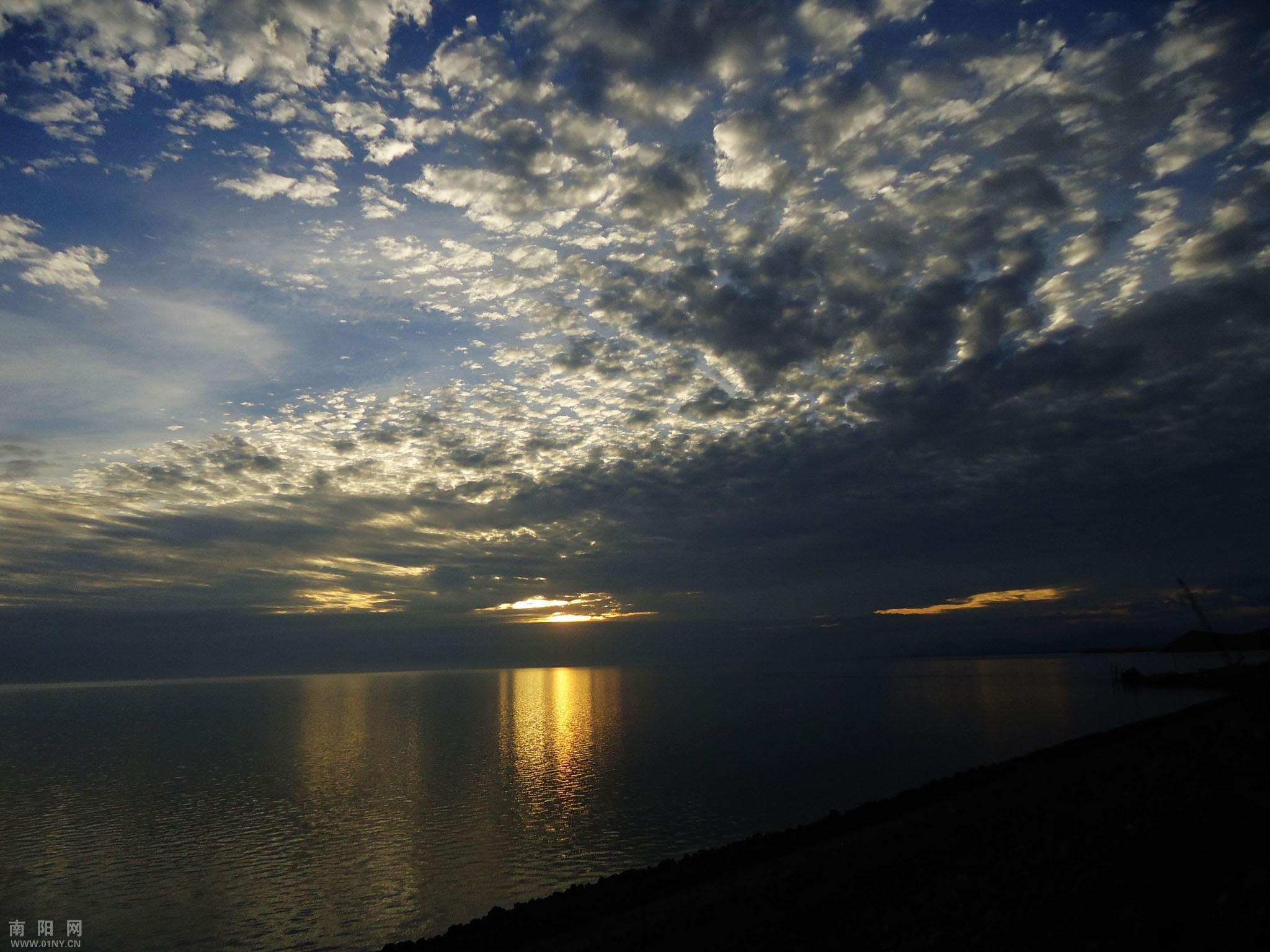 手机海边日落