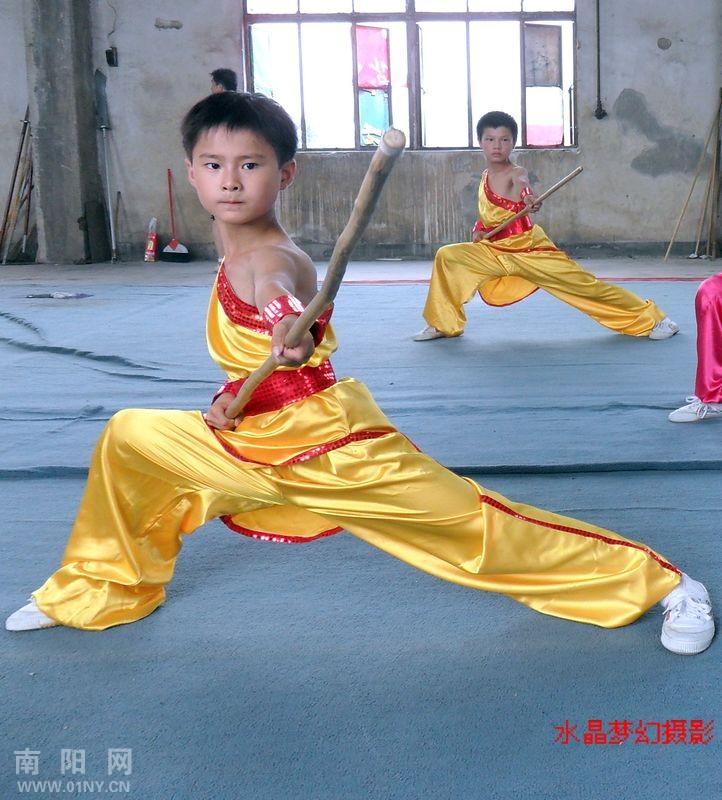 南阳市民族武术馆少儿武术训练掠影
