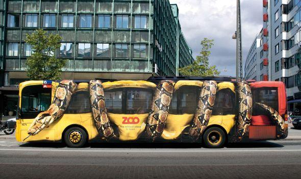哥本哈根动物园的巨蟒巴士