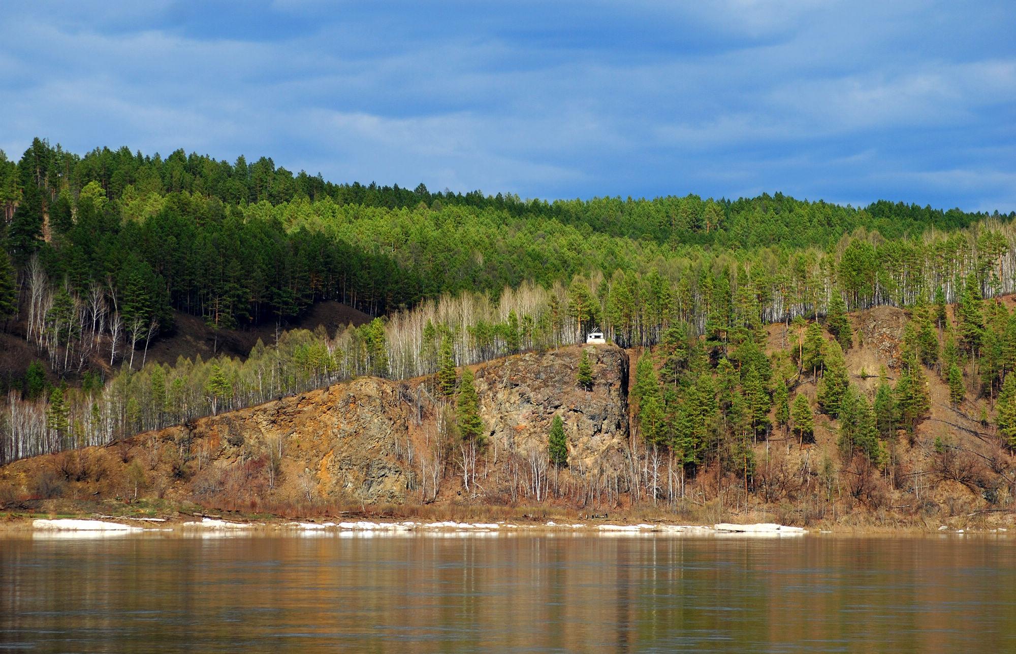 苏联山林油画风景