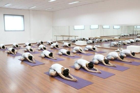 組圖:國內嫩模集體瑜伽修身 散發性感氣息圖片
