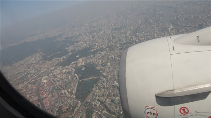 武汉成都飞机上采风