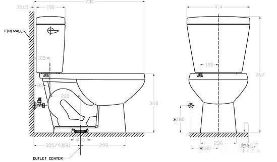 马桶底部图片结构图