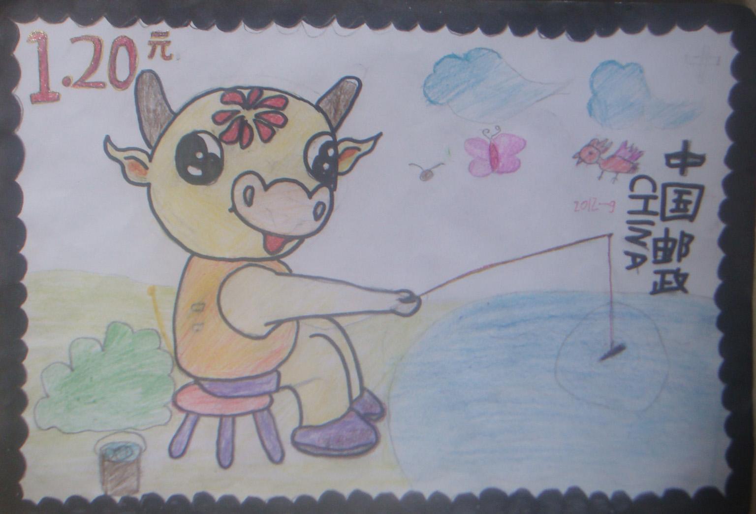 儿童邮票制作简笔画