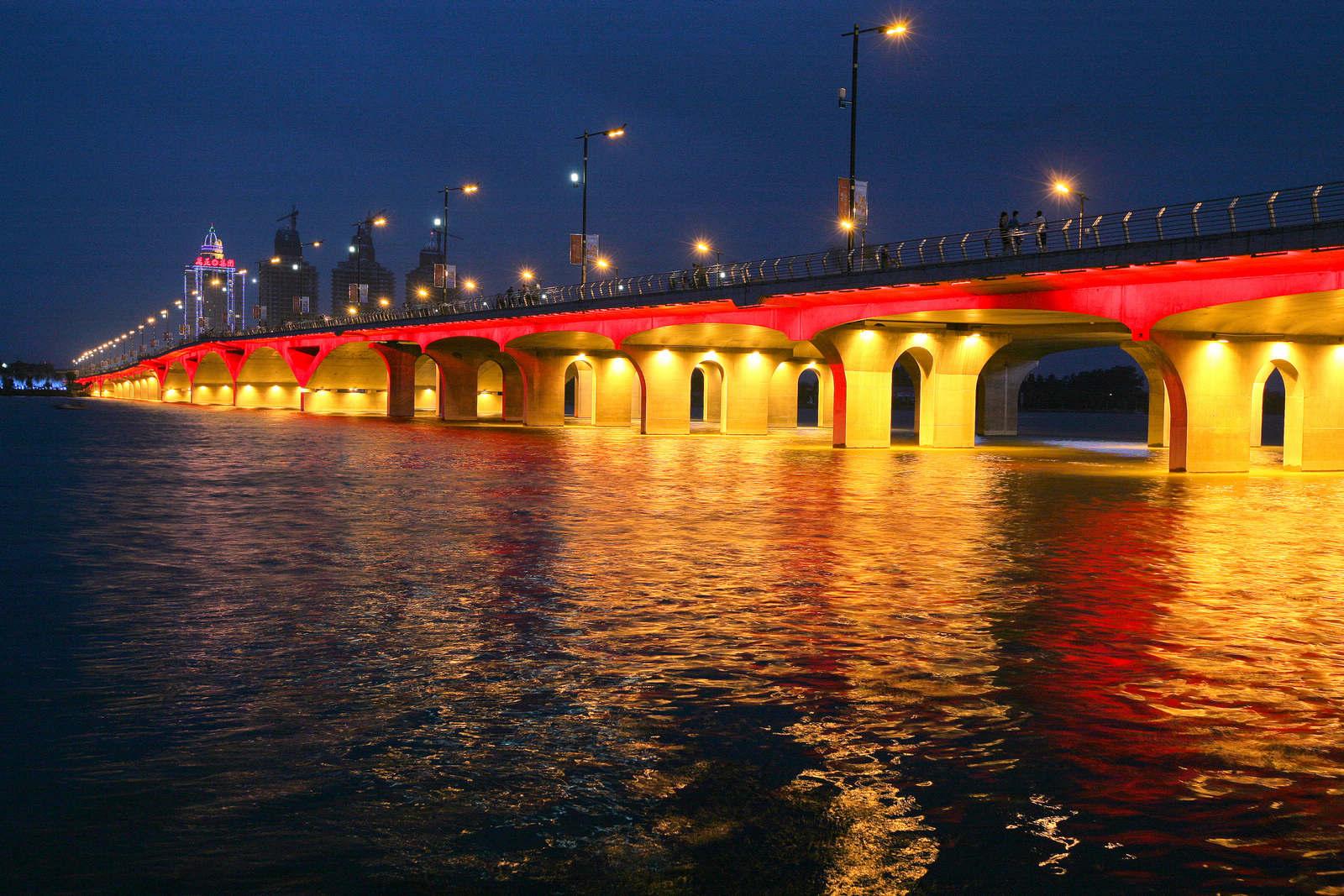 魅力南阳 白河之夜