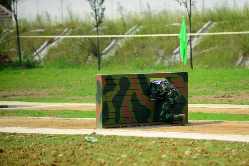 农运会军事三项比赛——400米障碍跑