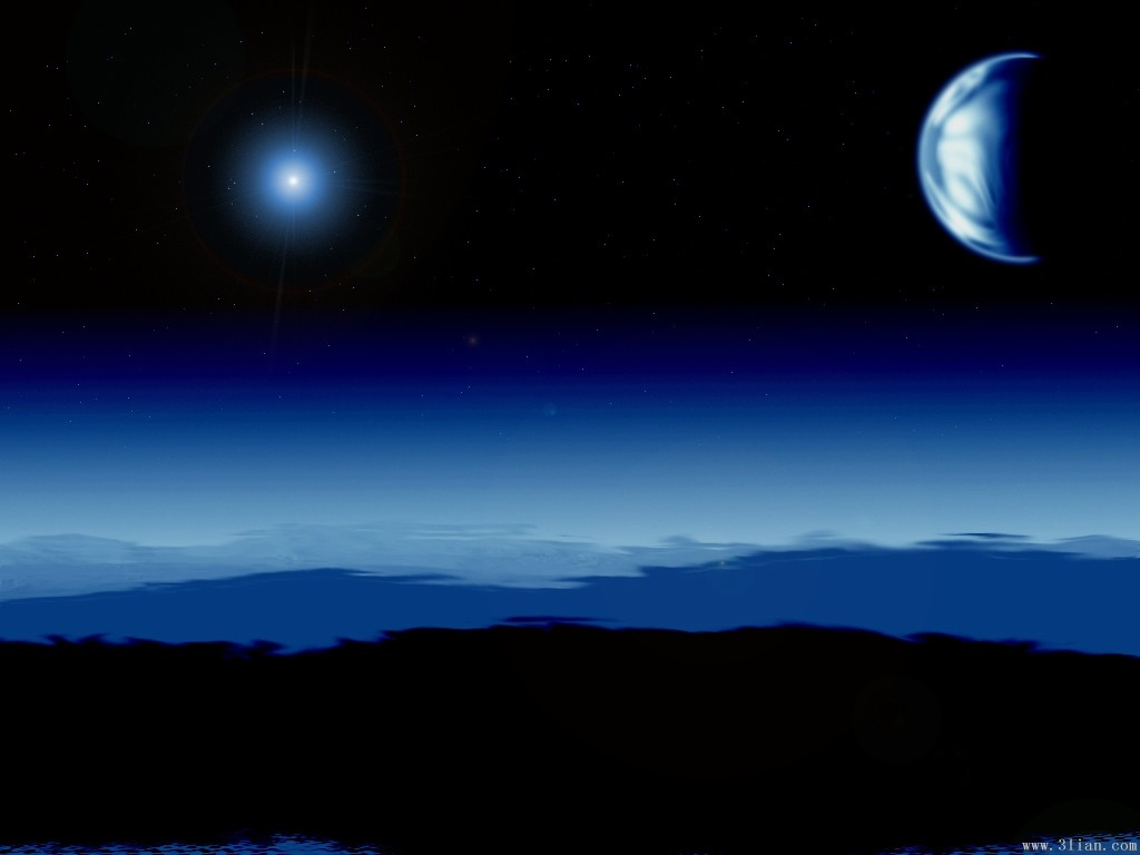 带有月亮的ppt背景