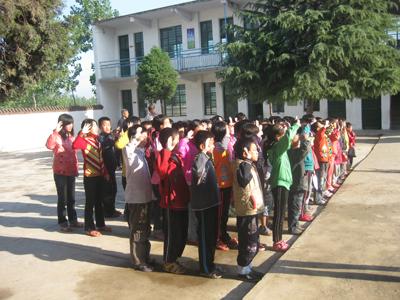 内乡县乍曲乡小学举行 向国旗敬礼 签名启动仪式
