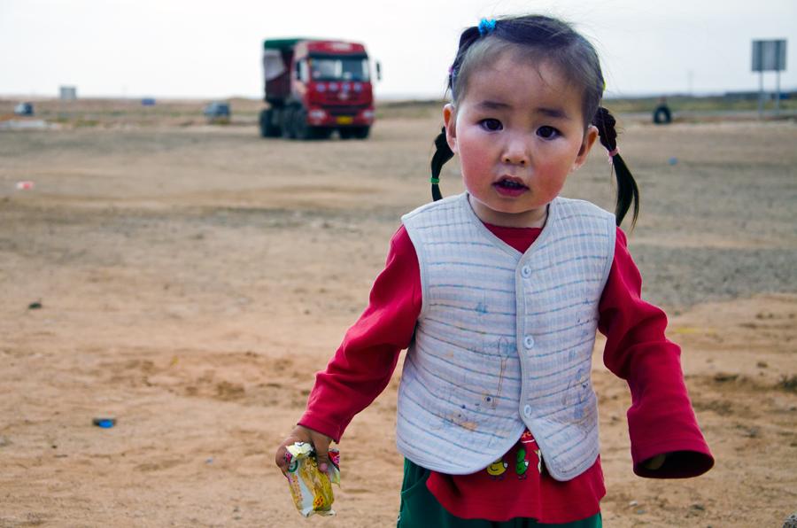 可爱的蒙古小美女