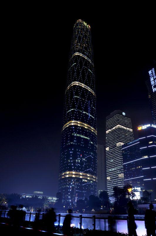 高楼大厦夜景