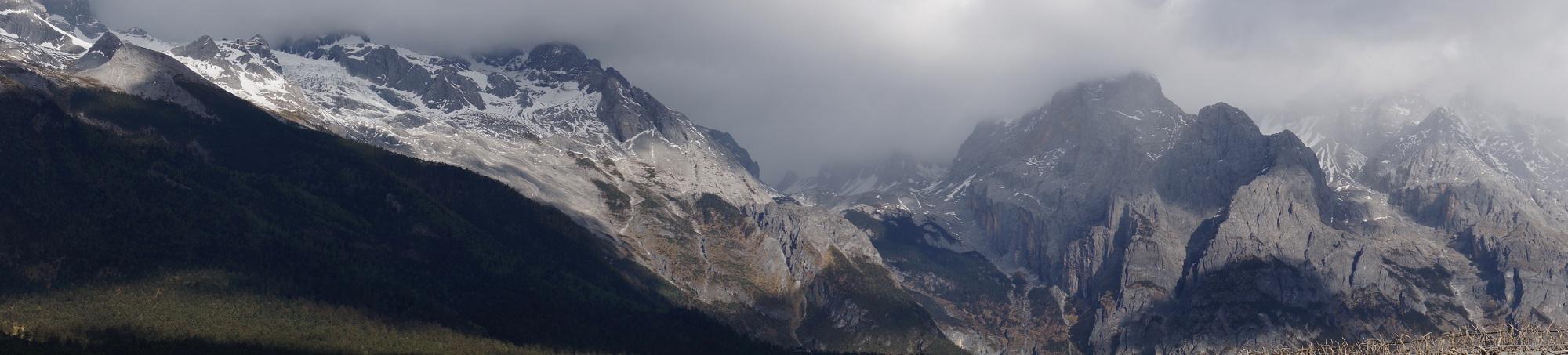 全景拼接六大步骤 多张照片获得超宽视野 61  西征路上——雪山