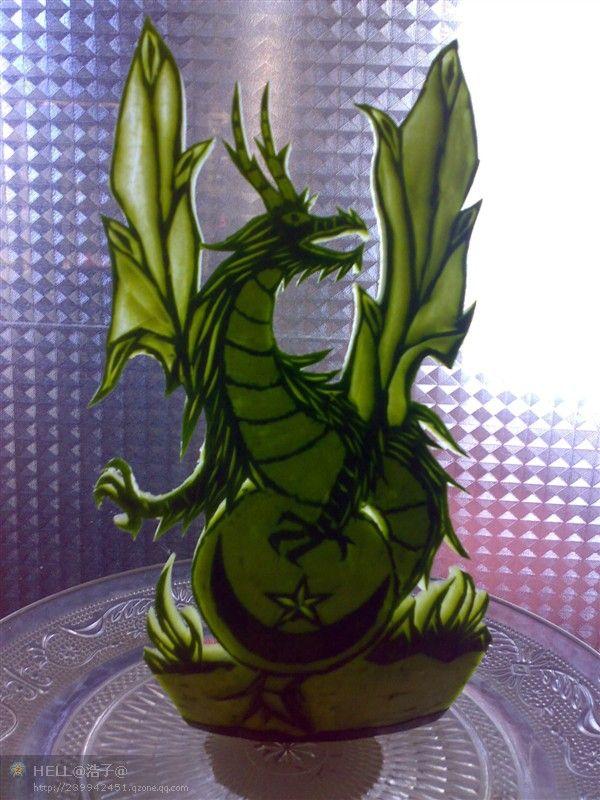 西瓜果盘; 西瓜雕刻图片