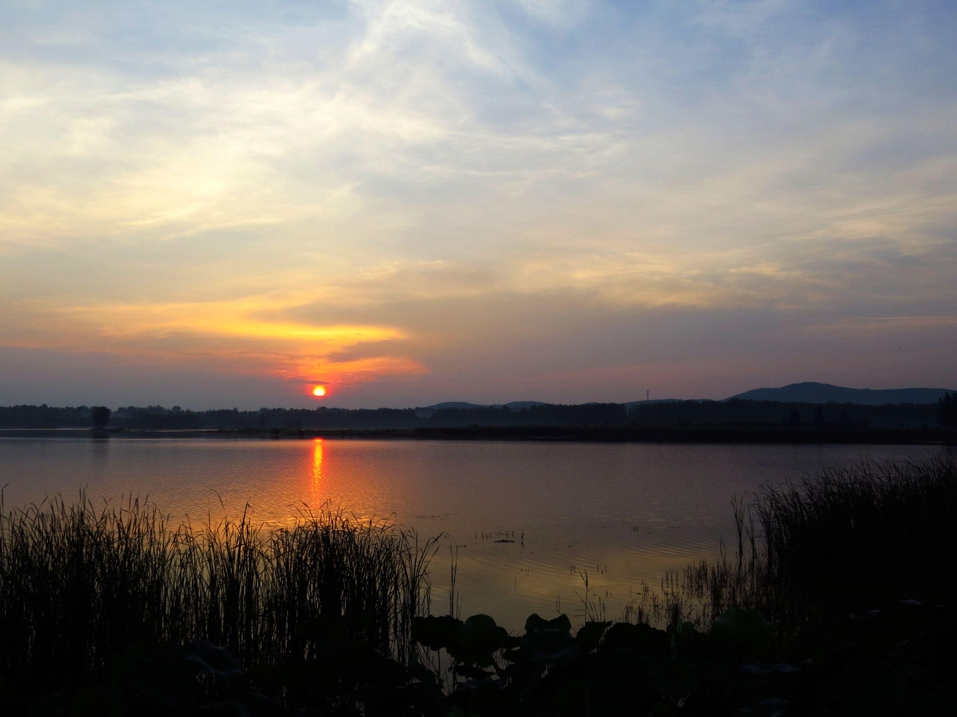 湿地日出-行摄风光-光影中国网-36.01ny.cn - powered