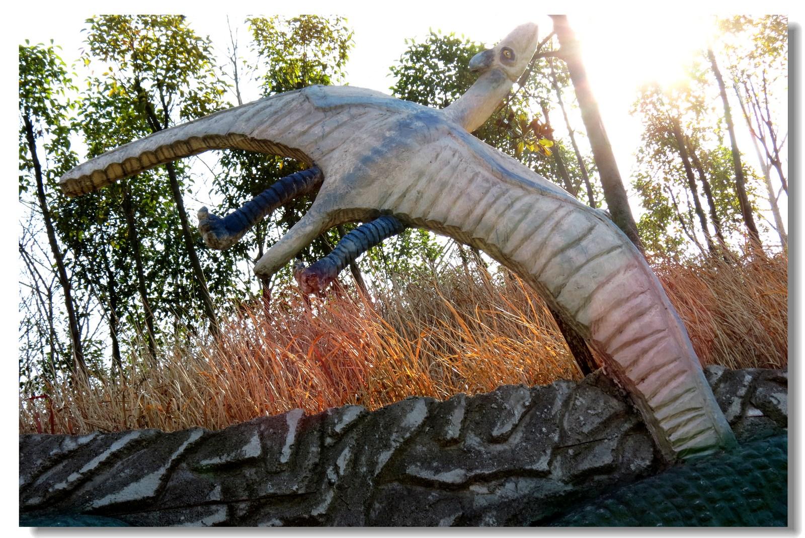 西峡恐龙遗迹园采风掠影 七 雕塑墙