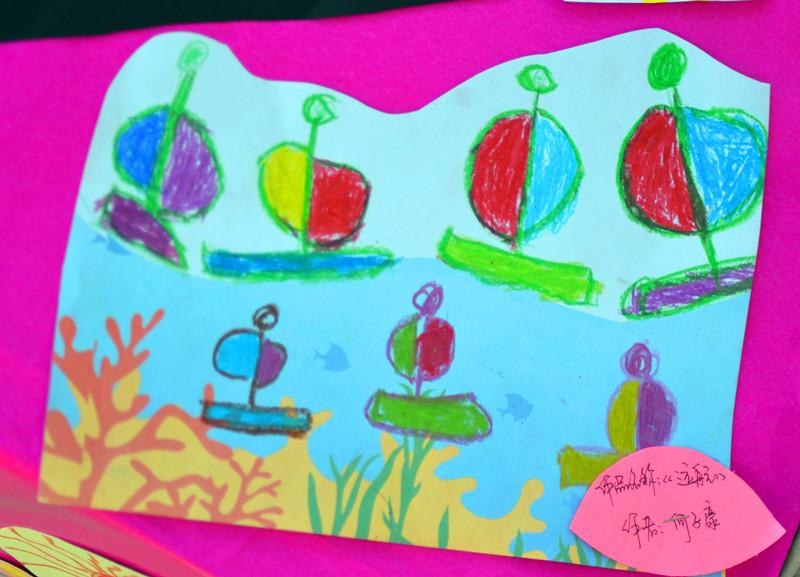 市政府幼儿园迎新年纪实——孩子们的画