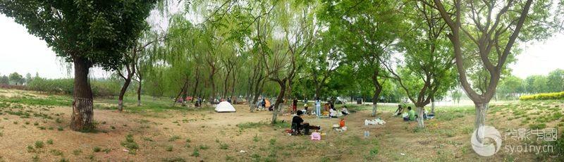 节日的街边公园