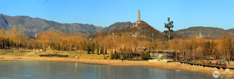 玉泉山,西山风景 (全景)