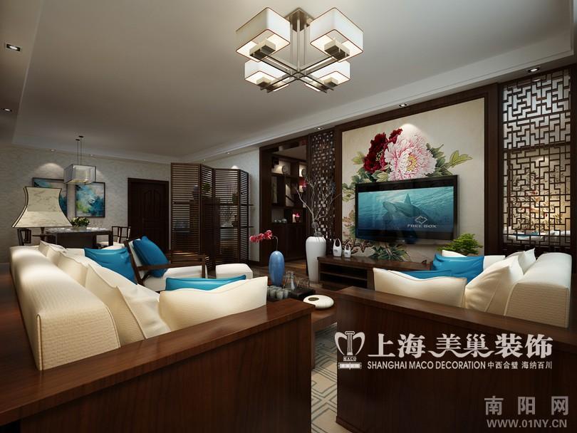 饰设计天富鑫苑三室两厅100平装修效果图