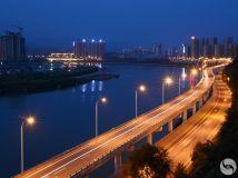 鹭鸶湾高架桥的夜色