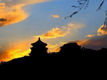 夕阳辉映佛香阁----颐和园
