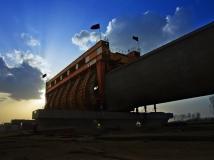 南水北调中线工程建设摄影大赛【建设中的南阳湍河渡槽】