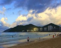 夕阳映海滩6
