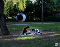 父与子  拍摄于北京朝阳公园