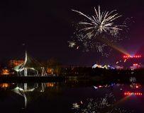 邓州公园夜景
