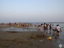 秋日海滨浴场