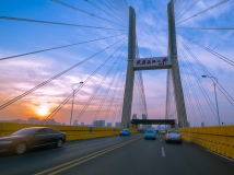 2013第12期月赛-武汉二桥夕阳照