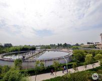 污水处理净化池。