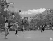 今天星期日,早晨去学校球场看学生们练球,记录下几个镜头,
