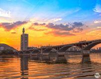 香江大桥观日落