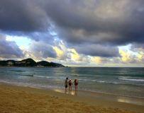 夕阳映海滩2