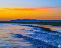 青  海  湖  夕  阳  2
