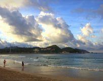 夕阳映海滩5