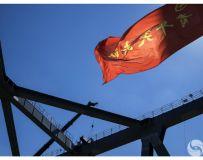建设中的武汉江汉七桥