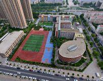俯瞰郑州外国语学校
