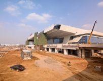 建设中的南阳高铁站