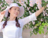 蔷薇花环境人像(1)