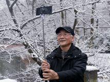 冬之韵- 雪景美,爹爹也自拍