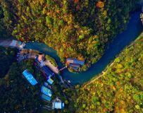 俯瞰金丝白龙湖