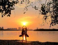 夕阳-白河-瑜伽(20)