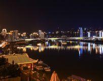 重庆嘉陵江小夜景